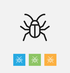 Of zoology symbol on cockroach vector