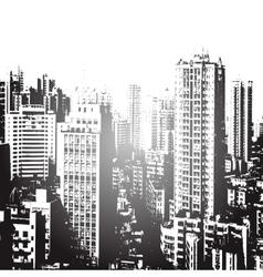 Panorama city cartoon vector