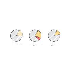 Pie chart diagram icons vector