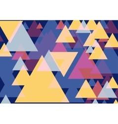 Pop art triangles vector image