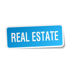 Real estate square sticker on white vector