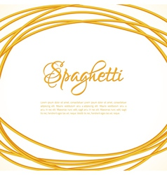 Realistic Twisted Spaghetti Pasta Circle Frame vector image