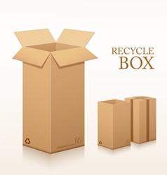 Recycle brown box long size packaging vector