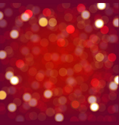 Red background with bokeh vector