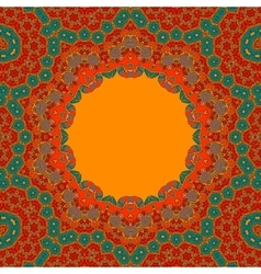 Red Green Round Ornamental Symmetry Pattern vector