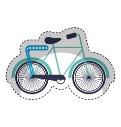 retro bicycle style icon vector image