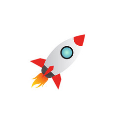 rocket launch logo icon design template vector image