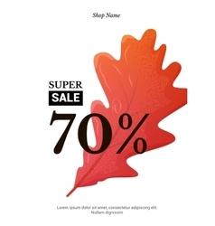 Sale elegant banner vector image