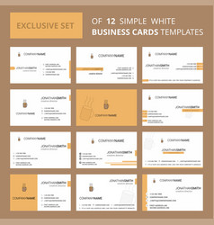 set of 12 coffee creative busienss card template vector image