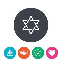 Star of David sign icon Symbol of Israel vector image