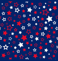 Stars seamless pattern usa colors background vector