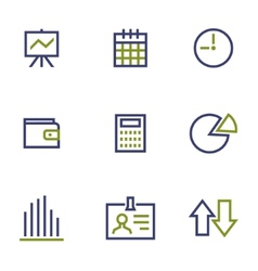 stock and market symbol line icon on white vector image