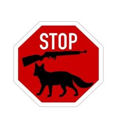 Stop shoot fox vector image