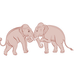 thai traditional elephant painting vector image