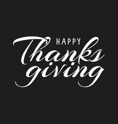 Thanksgiving typography vector