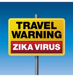 Travel Warning Zika Virus vector