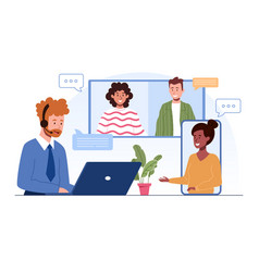 video conferencing people vector image