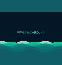 water wave background blue color background vector image