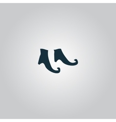 Witch boots icon vector