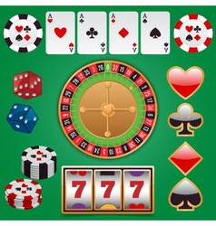 Casino design elements vector image vector image