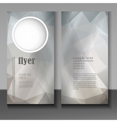 flyer with an abstract geometric pattern vector image
