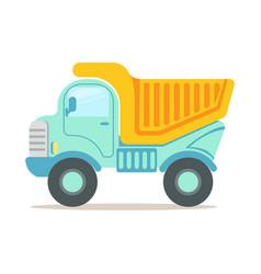 heavy duty dump truck construction machinery vector image