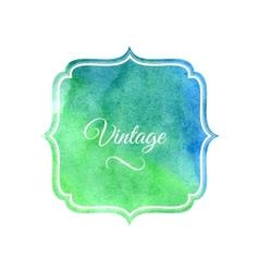 Watercolor label design element vector image vector image