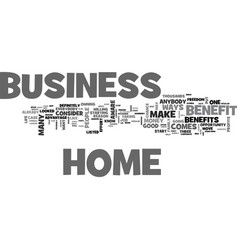 benefit from a home business text word cloud vector image