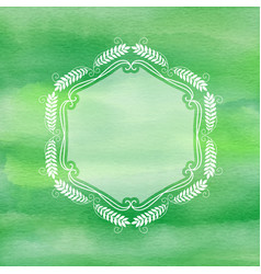 decorative frame on watercolour background vector image