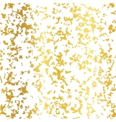Golden on white abstract grunge flake foil vector