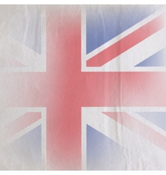 old vintage paper texture with british union jack vector image