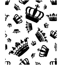 silhouettes of crown vector image
