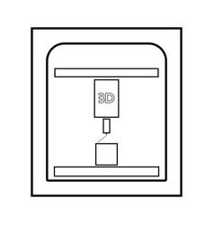 3d printer black color icon vector image