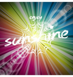 Abstract shiny background with sun flare vector image