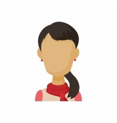 Avatar brunette woman icon cartoon style vector image vector image