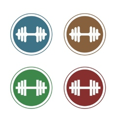 barbell stamp vector image