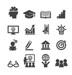business education icon vector image vector image