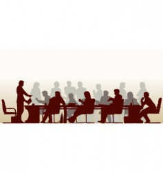 busy meeting vector image vector image