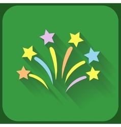 Flat icon with firework and shadow vector image vector image