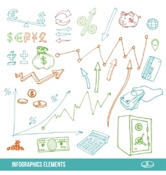 Hand drawn elements for infographic vector image