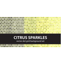 Polka dot pattern set citrus sparkles seamless vector