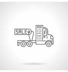 Sale truck without trailer icon line icon vector image vector image