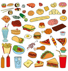 Set of fast food vector