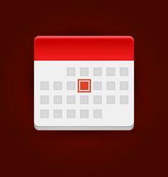 calendar icon on dark background vector image