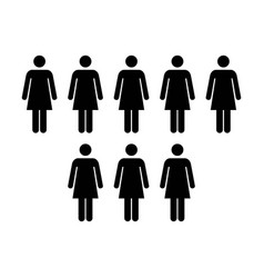 People icon - group of women team vector