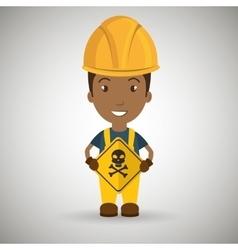 Worker symbol danger vector