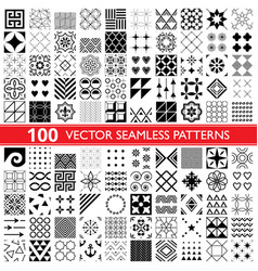 100 seamless pattern collection geometric vector