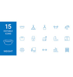 15 weight icons vector