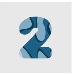 2 water font template design vector