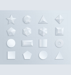 3d shapes template realistic vector
